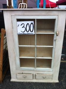 My favorite piece from Scott Antique Market--it will hold cook books and wine glasses!